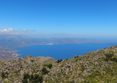 View from Thrypti to Agios Nikolaos