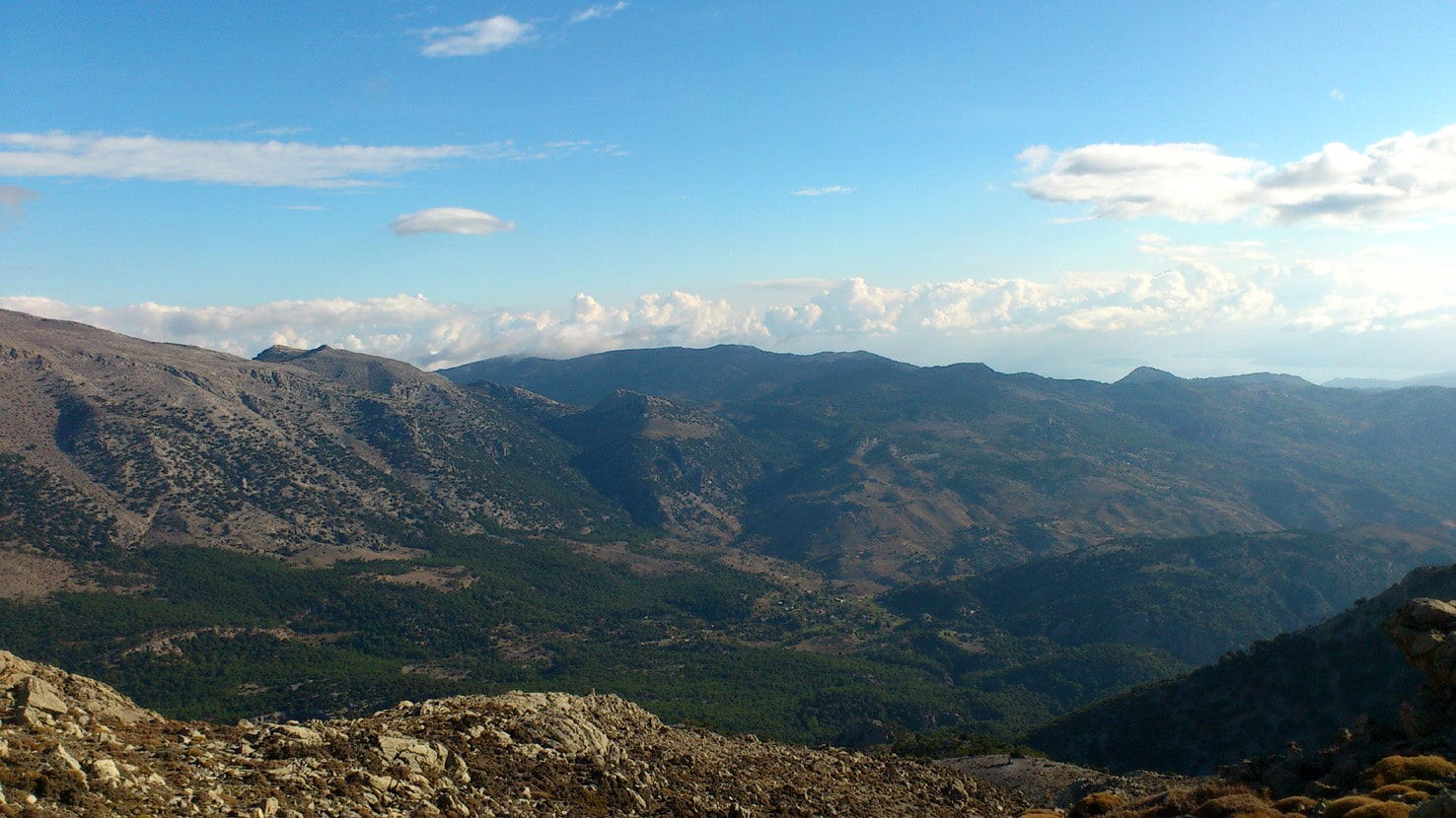 The border between Lasithi and Heraklion on Dikti mountains