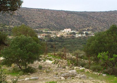 View to the village