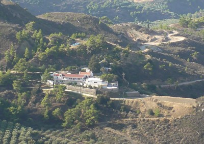 The monastery from high up