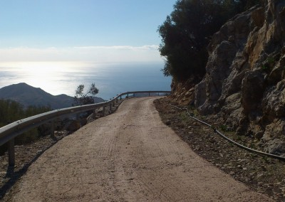 Road from Riza to Karydi