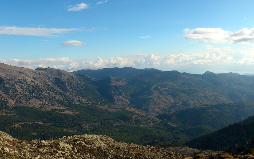 The border between Lasithi and Heraklion, Dikti mountains